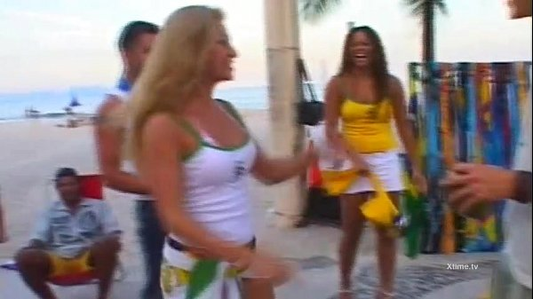 Exotic brazilian babes banged doggystyle!