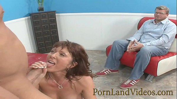 husband watching slutty wife's cheating revenge with huge cock