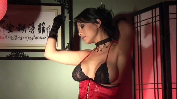 Masturbating in stockings gloves and a corset Thumb