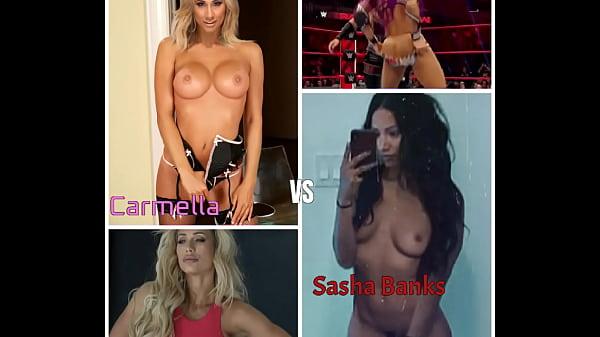 Who Would I Fuck? - Carmella VS Sasha Banks (WWE Challenge)