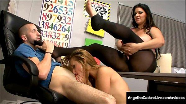 Cuban BBW Angelina Castro Shares Dick With Tara...