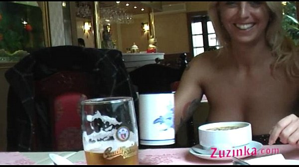 Natural exhibitionist in Chinese Restaurant