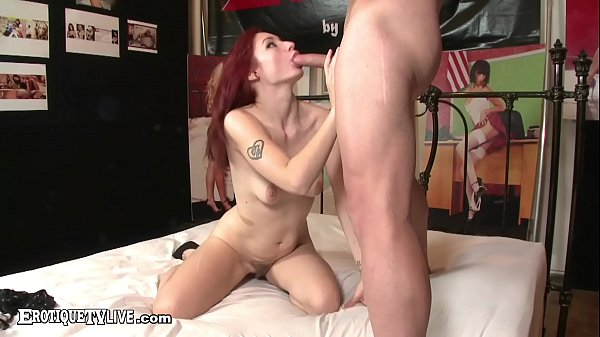 EROTIQUE TV Young Redhead Violet Monroe Fucks ERIC JOHN Live