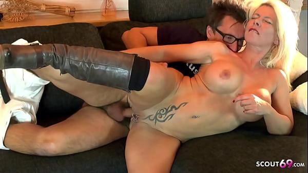 German Pornstar Conny Dachs Fuck Big Tits MILF on Home Tour