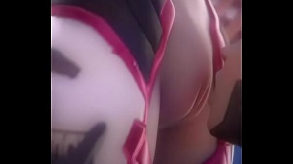 Mercy licks D.Va's tight pussy.
