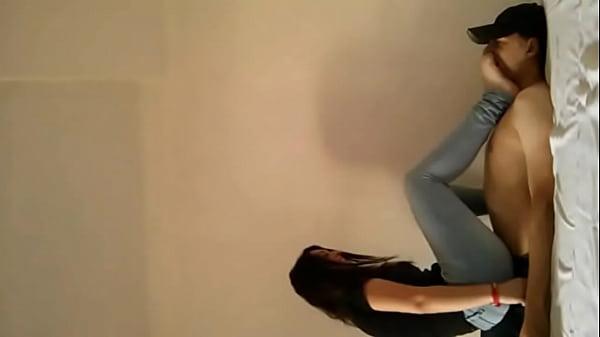 Cruel mistress trample her slave