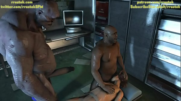 Lara Croft getting face fucked by Coach and then brutal rough sex with Cyclop