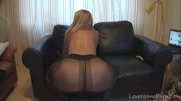 Sensational girl in pantyhose loves to masturbate