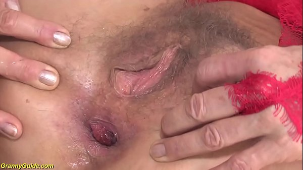crazy 85 years old granny first anal sex