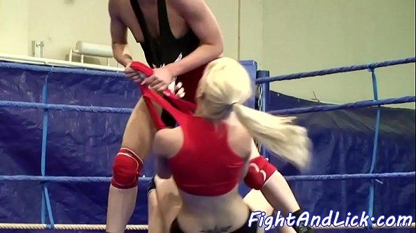 Lesbian eurodyke fingered by her opponent