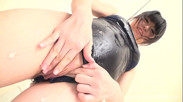 Young asian girl play with their shaved pussy
