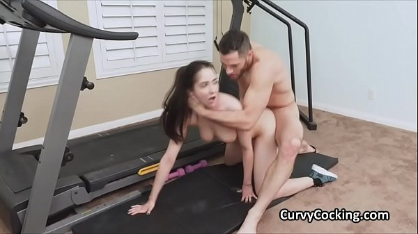 Post workout cocking with curvy Kyra Thumb