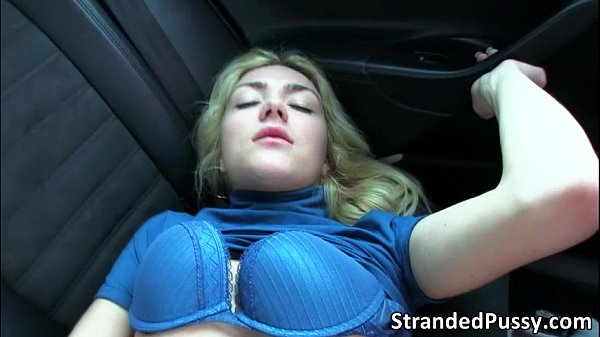 Gorgeous Victoria gets banged by the guy in the backseat for revenge