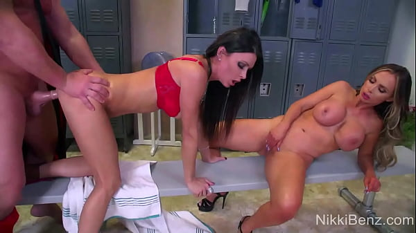 Busty Nikki Benz And Jessica Jaymes Banged By Professional Wrestler