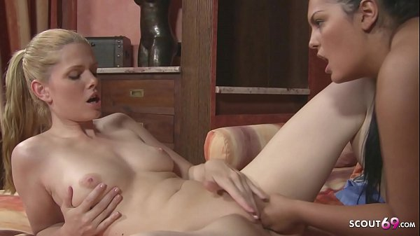 Ginger Teen Katalin First Lesbian Sex with Huge Tits MILF at Wellness Lounge