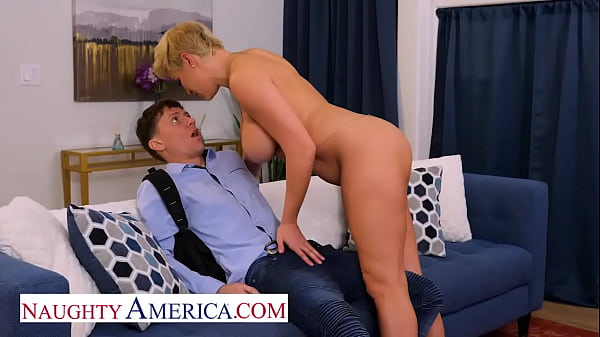 Naughty America - Hot Milf Ryan Keely catches her son's friend peeping on her, so she gives him what he wants! Thumb