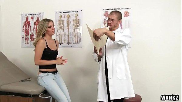 WANKZ- Sexy College Blonde Trisha Exploited at Doctors