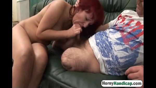 Redhead gets fucked by a horny amputee