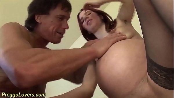 extreme big belly preggo redhead big cock fucked