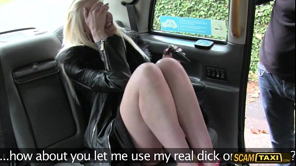 Hot blonde chick adores pussy slamming inside the taxi