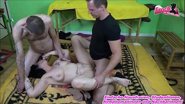 German GILF anal fuck from 2 young boys