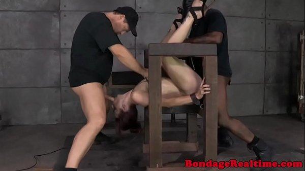 BDSM fetish Bella Rossi gets destroyed