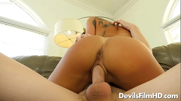 Hot stepsister Evelin Stone rides on a dick