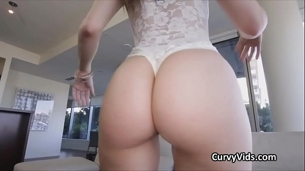 Fine curvy booty oiled and bouncing on cock