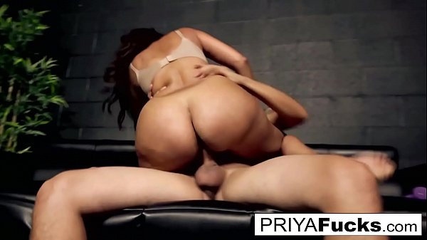 Indian MILF Priya Rai fucks a hung young stuf then gives him a foot job until he cums!