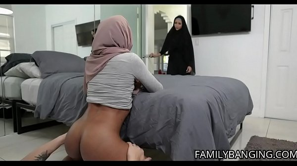 Young Ebony Muslim Teen Milu Blaze Gets Fucked By Her Stepbrother Wearing Her Hijab