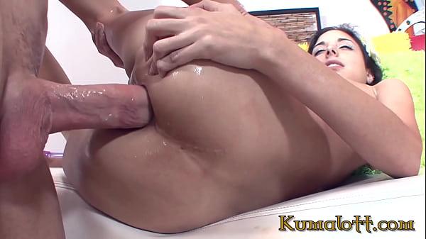 Kumalott - Petite Brunette With Small tits Addicted To Anal