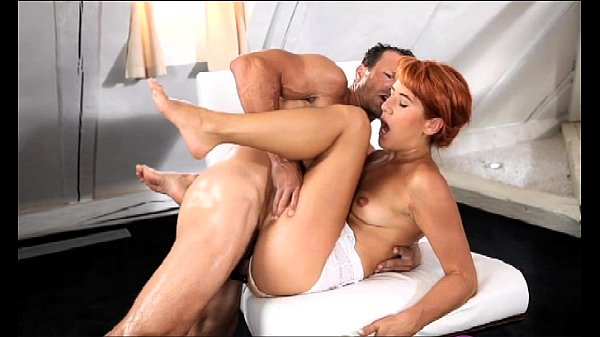 StrapOn Mature guy shows her she can take it in both holes