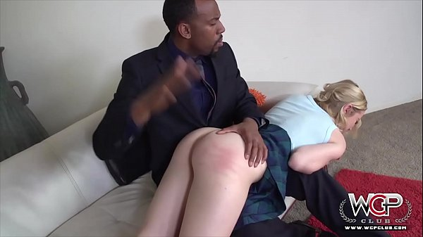 Tiny Chloe likes thick black lollipops shoved up her pussy