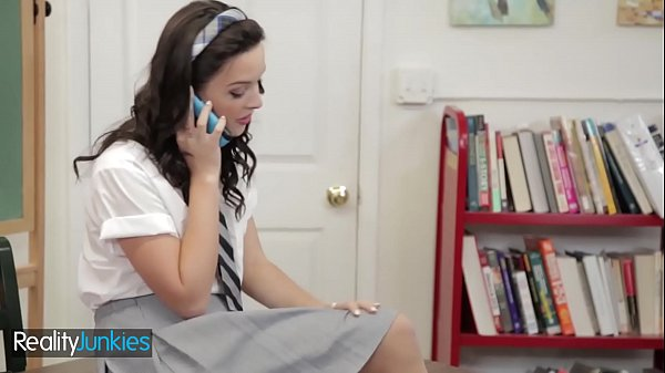 (Petite Dirty) schoolgirl fucks in uniform - Reality Junkies