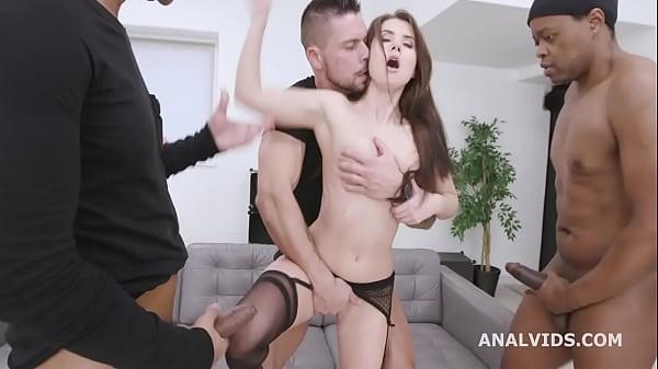 8on1 Triple Anal Gangbang with Nicole Black, Ba...