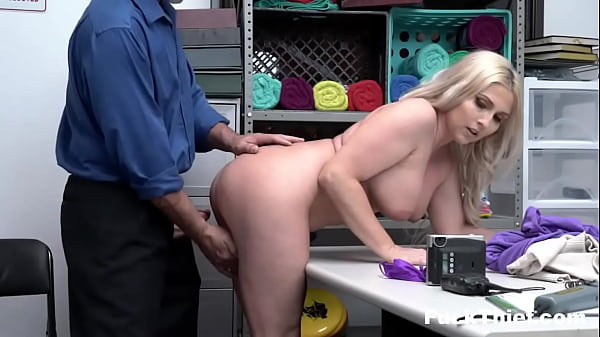 Thick Blonde Milf Caught Shoplifting and Fucked