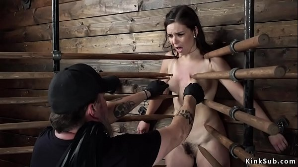 Slave in Vampire trap gets whipped
