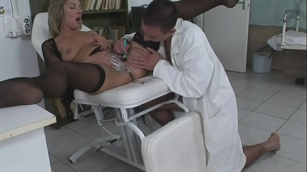 The lady has problems in intimate areas and the young doctor knows how to treat her Thumb