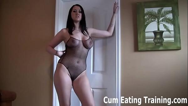 Sissy cum eating