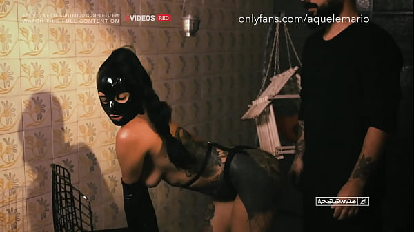 Submissive big ass tattooed brunette in BDSM session
