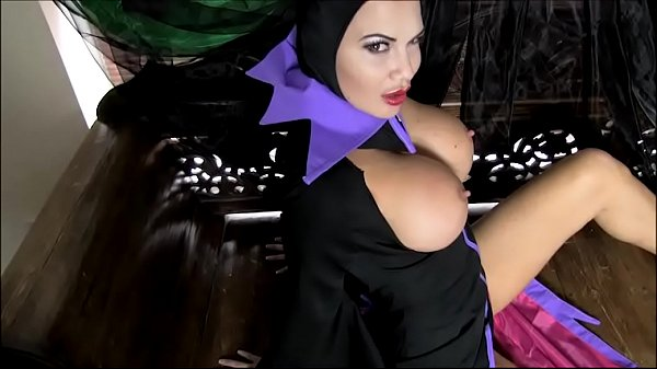 Cosplay BBW Evil Witch has huge boobs