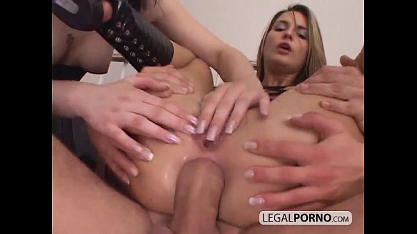 Sexy chicks ass-fucked in a rough threesome NL-10-04