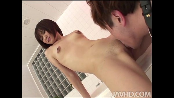 Nene Mashiro in the bathroom with a submissive guy sucking his dick and fucking Thumb