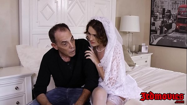 Busty bride cuckolds hubby with BBC on their wedding day