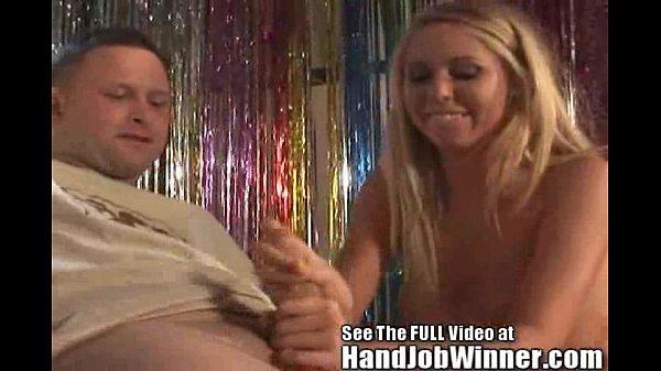 Tan Blonde Brynn Tyler Gives Her Fan Jeremy A Handjob