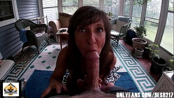 Sexy Milf Marie Big Cock Blowjob Outdoors