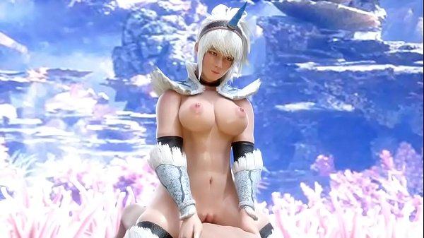 Monster Hunter Kirin Armor Blowjob, Paizuri & Cowgirl Sex - [EXGA]