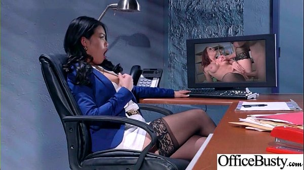 Sex Scene In Office With Slut Hot Busty Girl (C...