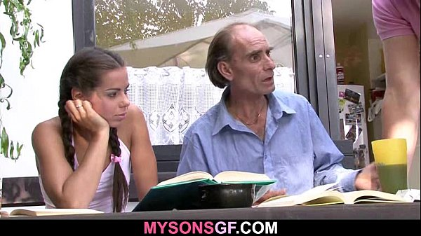 Young GF cheats with his BF's dad