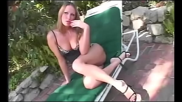 European cutie pie with big boobs in black outfit Mandy Bright is not against to discuss Italian fashion with bald stud near the pool one hot summer day